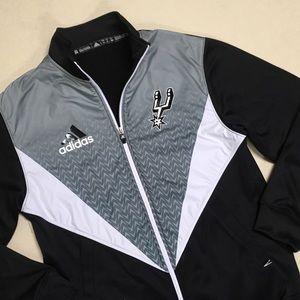 3fc129f82 adidas Jackets   Coats - San Antonio Spurs - Adidas Men s Warmup Jacket 🏀